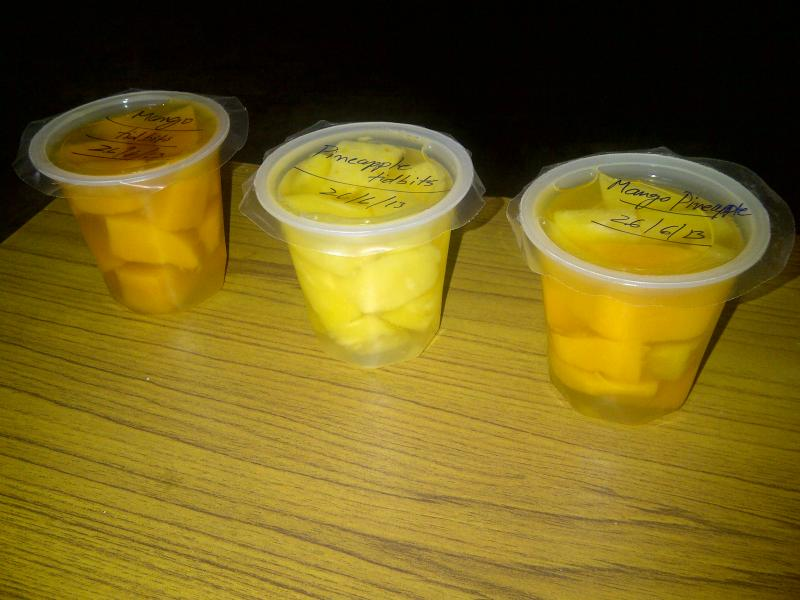 Mango & Pineapple in sugar syrup