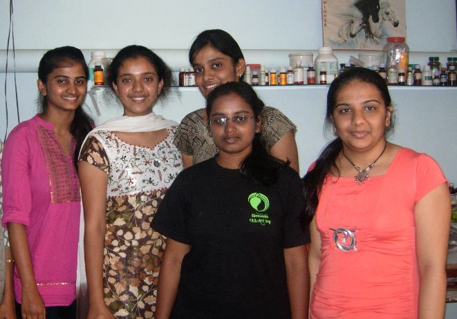 Graduate Food & Nutrition Students from Mount Carmel College Bangalore 2012