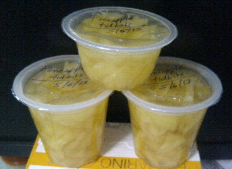 Pineapple Cubes in Sugar Syrup